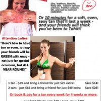 A4 Poster: Tanning Package