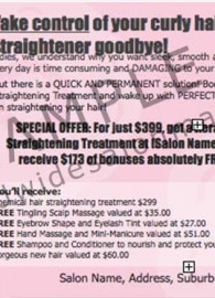 DL/#9 Flier: Keratin Pale Hair Straightening Package